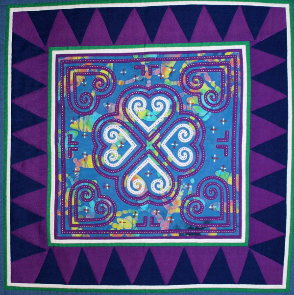 Hmong Embroidery Reverse Appliqué Cool Hmong Pattern