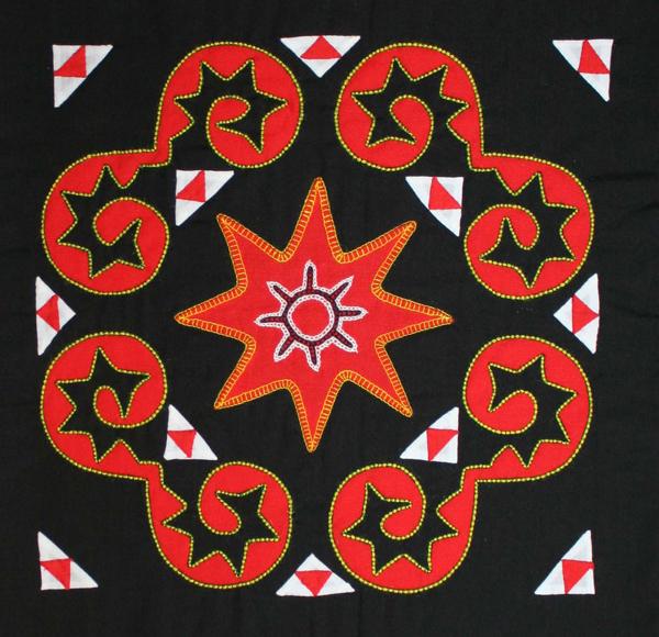 Hmong embroidery reverse appliqué